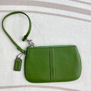 Coach Green Wristlet/ Wallet